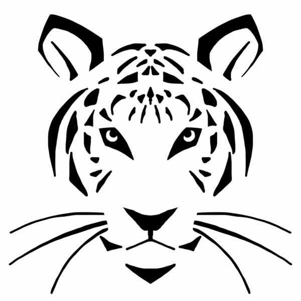 tiger face - A Sewing Tale