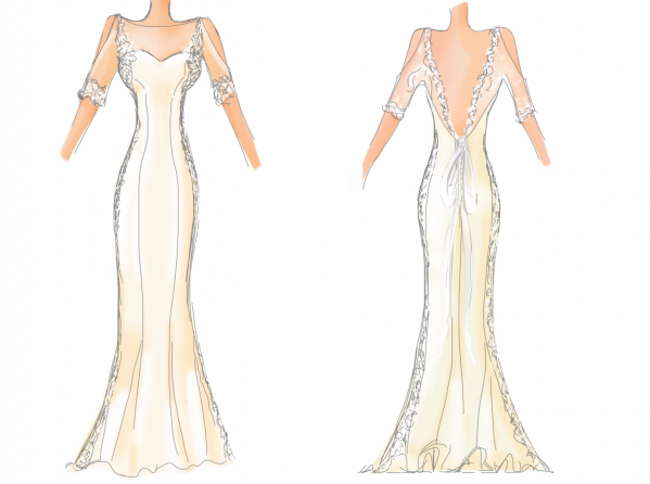wedding dress inspiration - A Sewing Tale