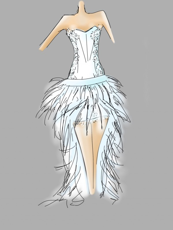 wedding dress - a sewing tale