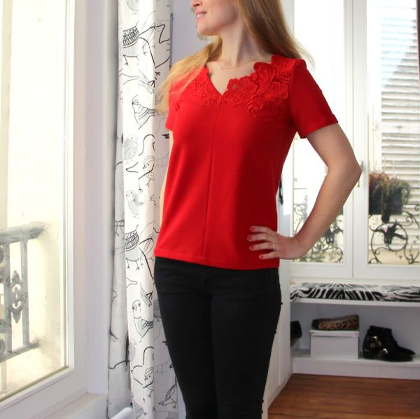 retro top - burda - a sewing tale